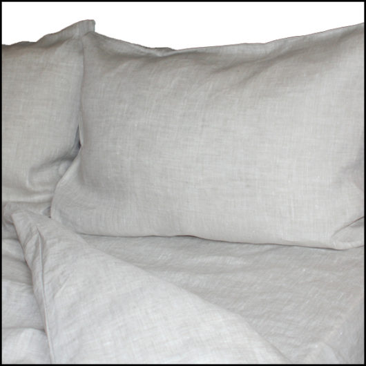 linen bed sheets set oatmeal