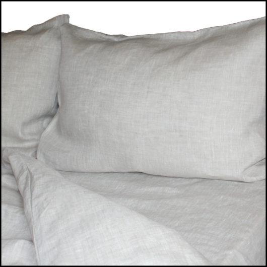 linen bed sheets set oatmeal