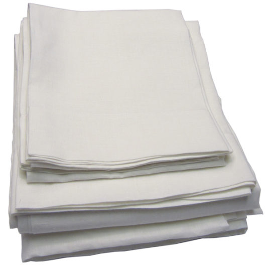 Pure linen sheet set, white