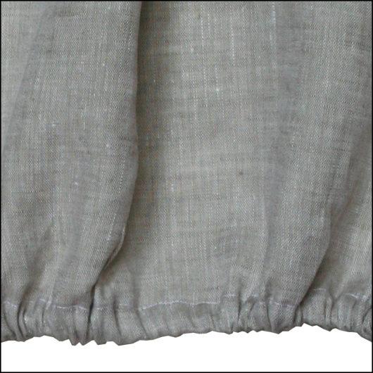 Linen fitted sheet, oatmeal