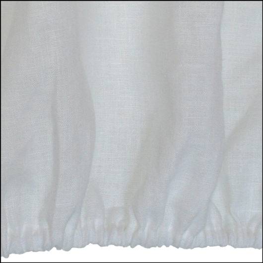 Linen fitted sheet white