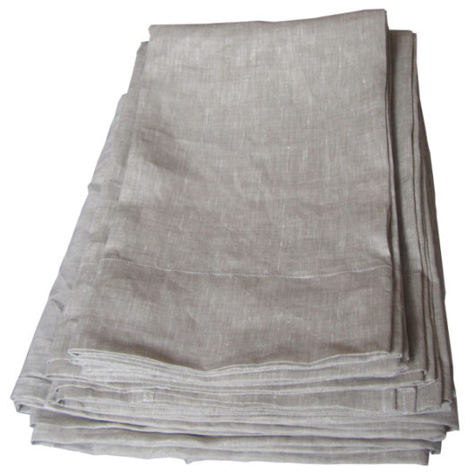linen sheets set oatmeal